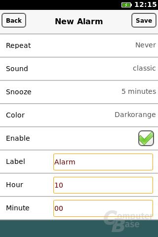 Firefox OS: Alarm