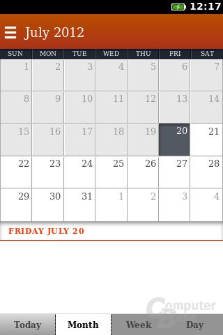 Firefox OS: Kalender