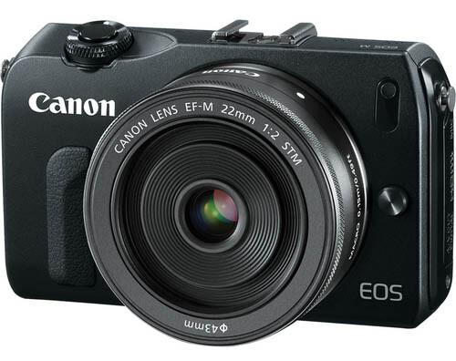 Aufgetauchtes Foto der vermutlich als Canon EOS-M erscheinenden Systemkamera