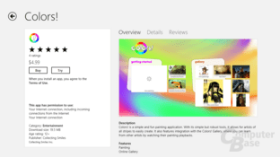 Ansicht im Windows Store