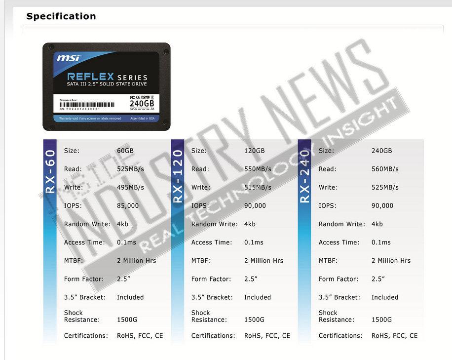 MSI Reflex Datenblatt