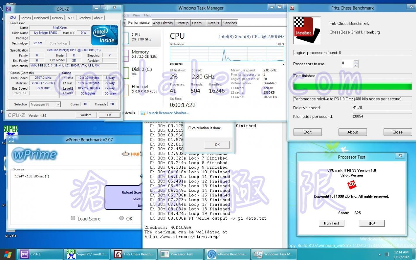 """Sample eines Intel """"Ivy Bridge-EP/EN"""" mit zehn Kernen"""