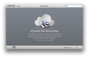 iCloud für Dokumente in OS X 10.8