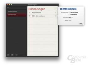 Erinnerungen in OS X 10.8 Mountain Lion