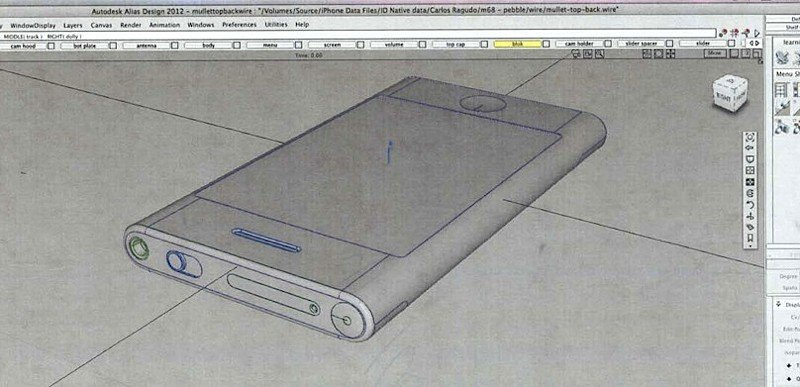 iPhone-Prototypen und CAD-Renderings