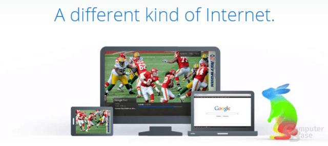 Auszug aus der Google-Fiber-Internetseite
