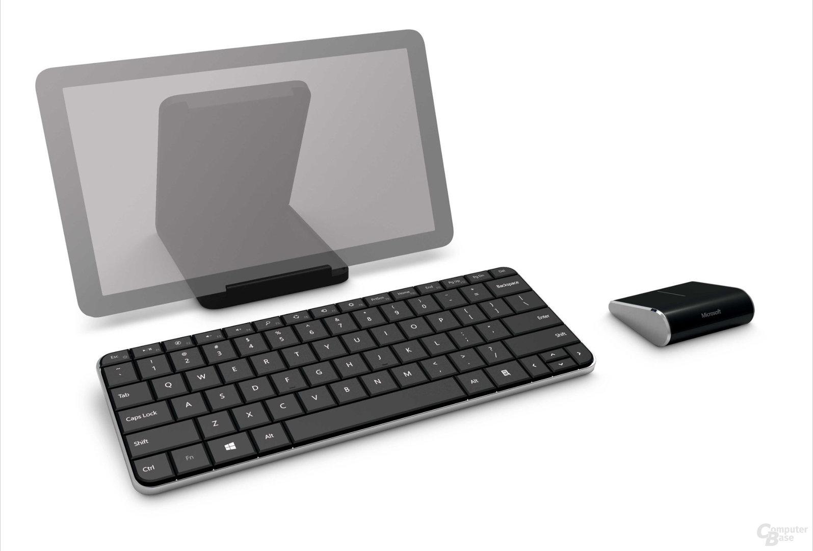 Microsoft-Wedge-Mobile-Keyboard-Abdeckung als Tablet-Ständer