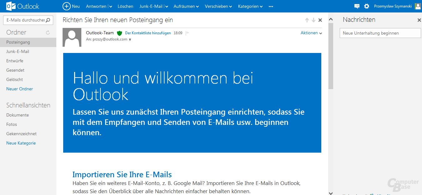 Leseansicht einer E-Mail