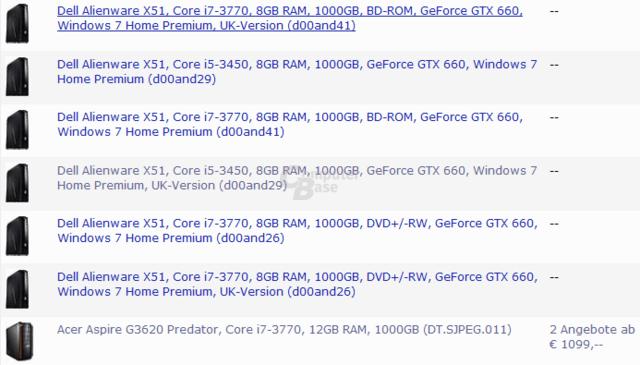 Erste Komplettsysteme mit GeForce GTX 660