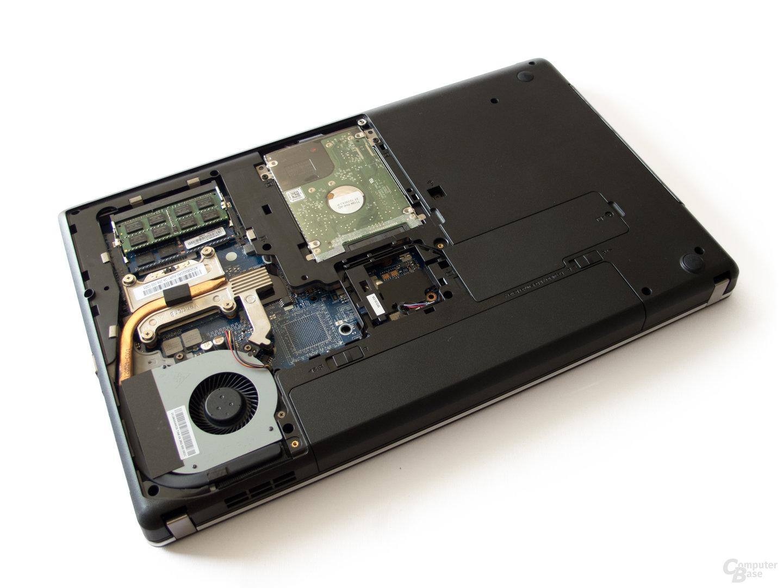 Gut zugänglich: RAM und HDD
