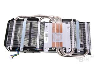 GeForce GTX 670 DCII OC Kühlerrückseite