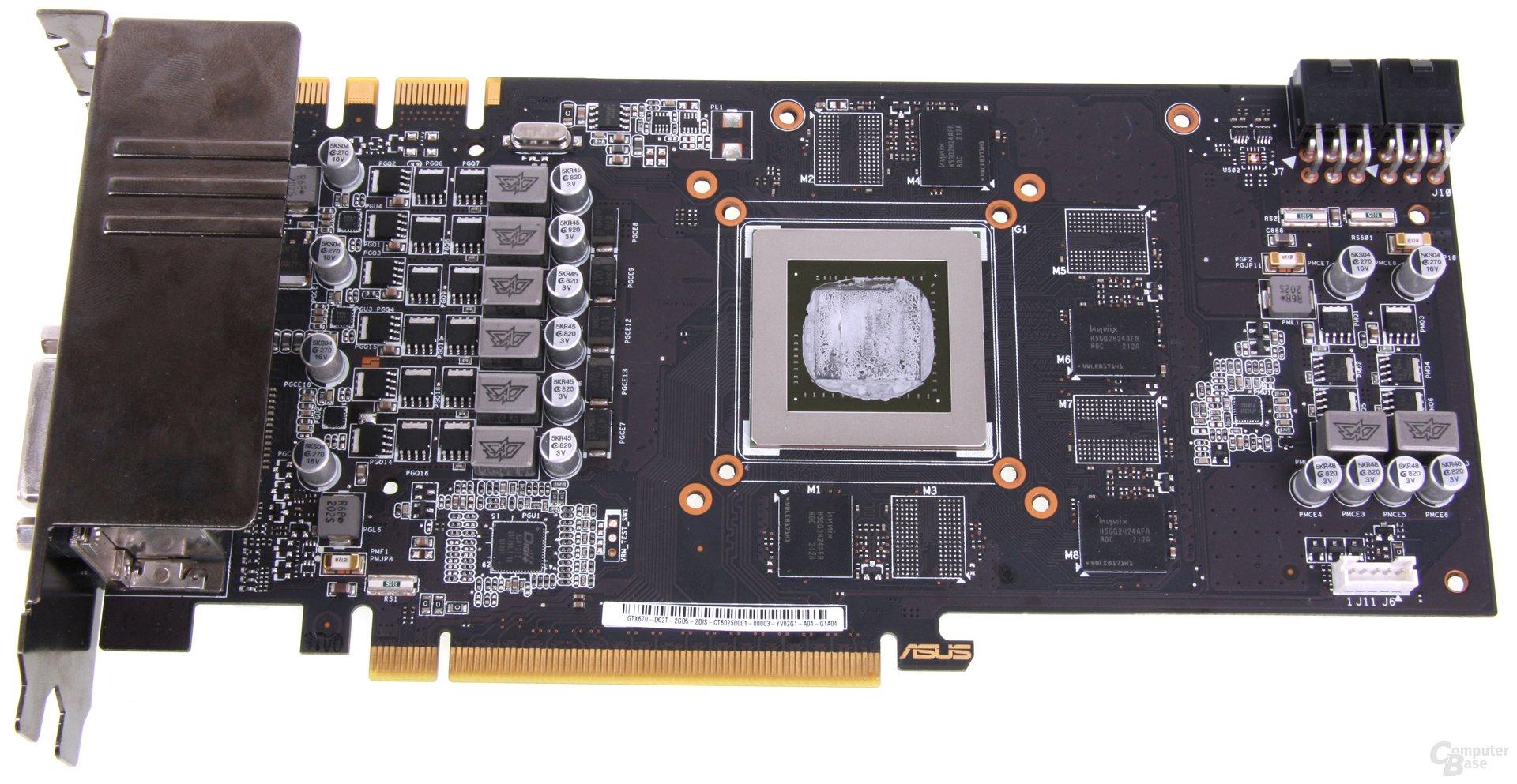 GeForce GTX 670 DCII OC ohne Kühler