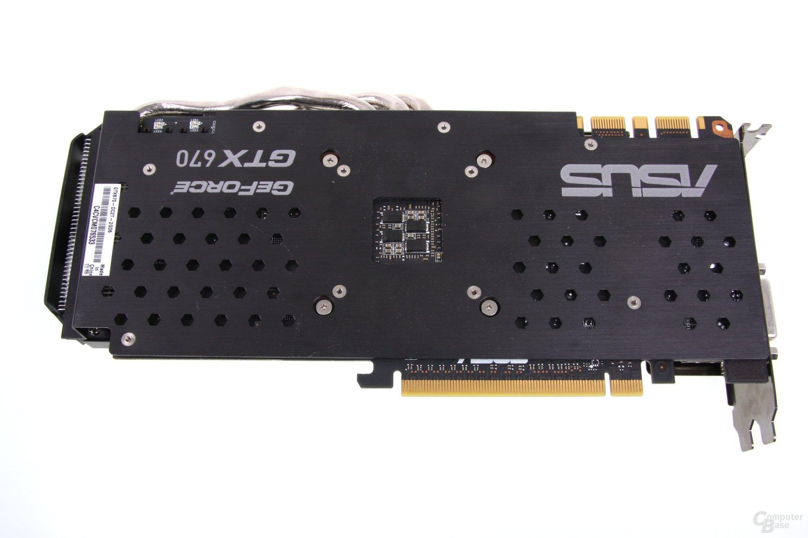 GeForce GTX 670 DCII OC Rückseite mit Backplate