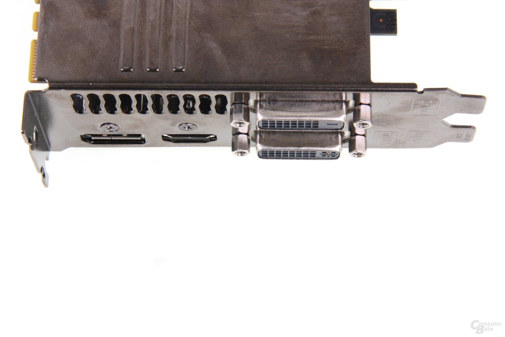 GeForce GTX 670 DCII OC Anschlüsse