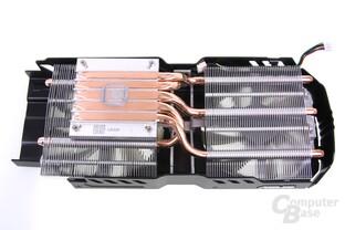 GeForce GTX 680 DCII OC Kühlerrückseite
