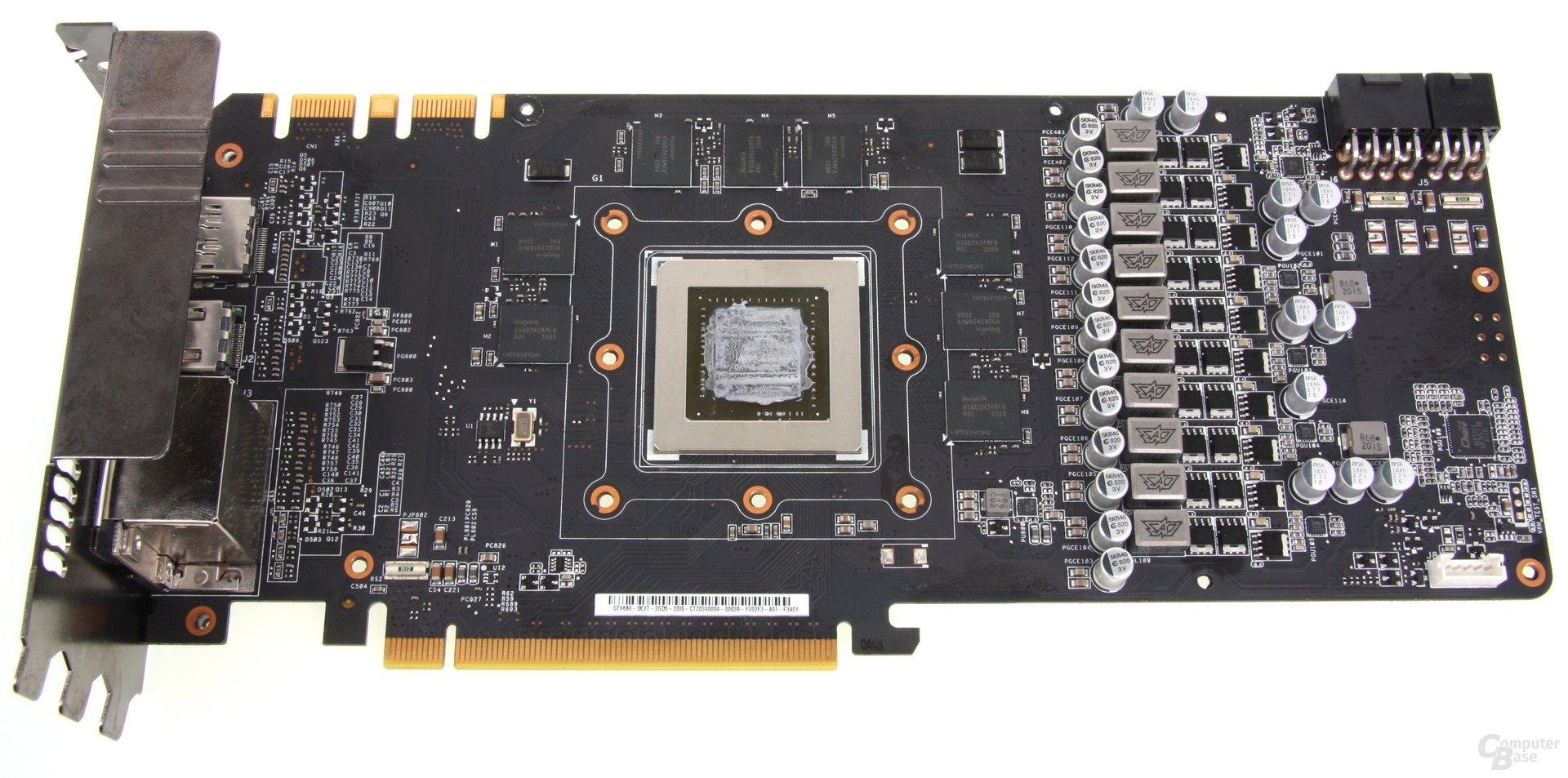 GeForce GTX 680 DCII OC ohne Kühler