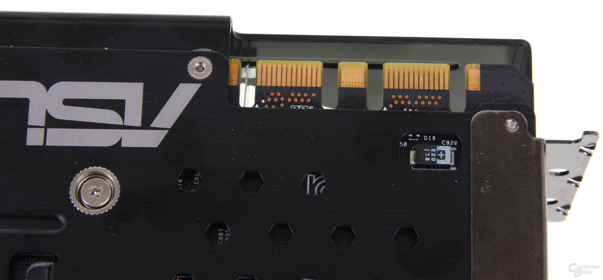 GeForce GTX 680 DCII OC SLI-Anschlüsse