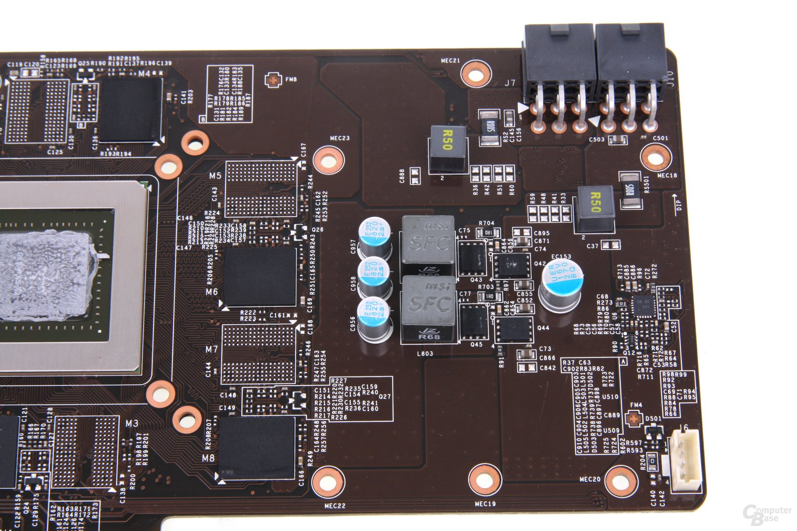 GeForce GTX 670 PE OC Bauteile