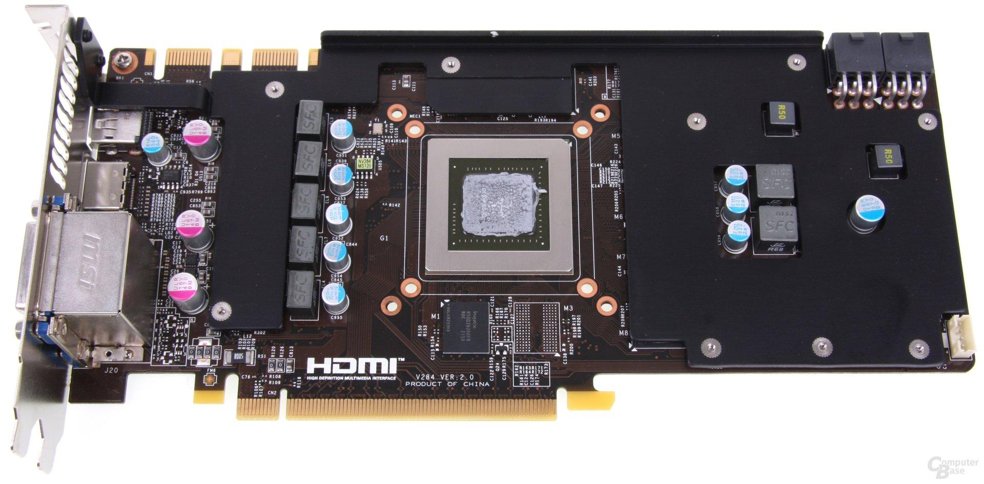 GeForce GTX 670 PE OC Kühlplatte