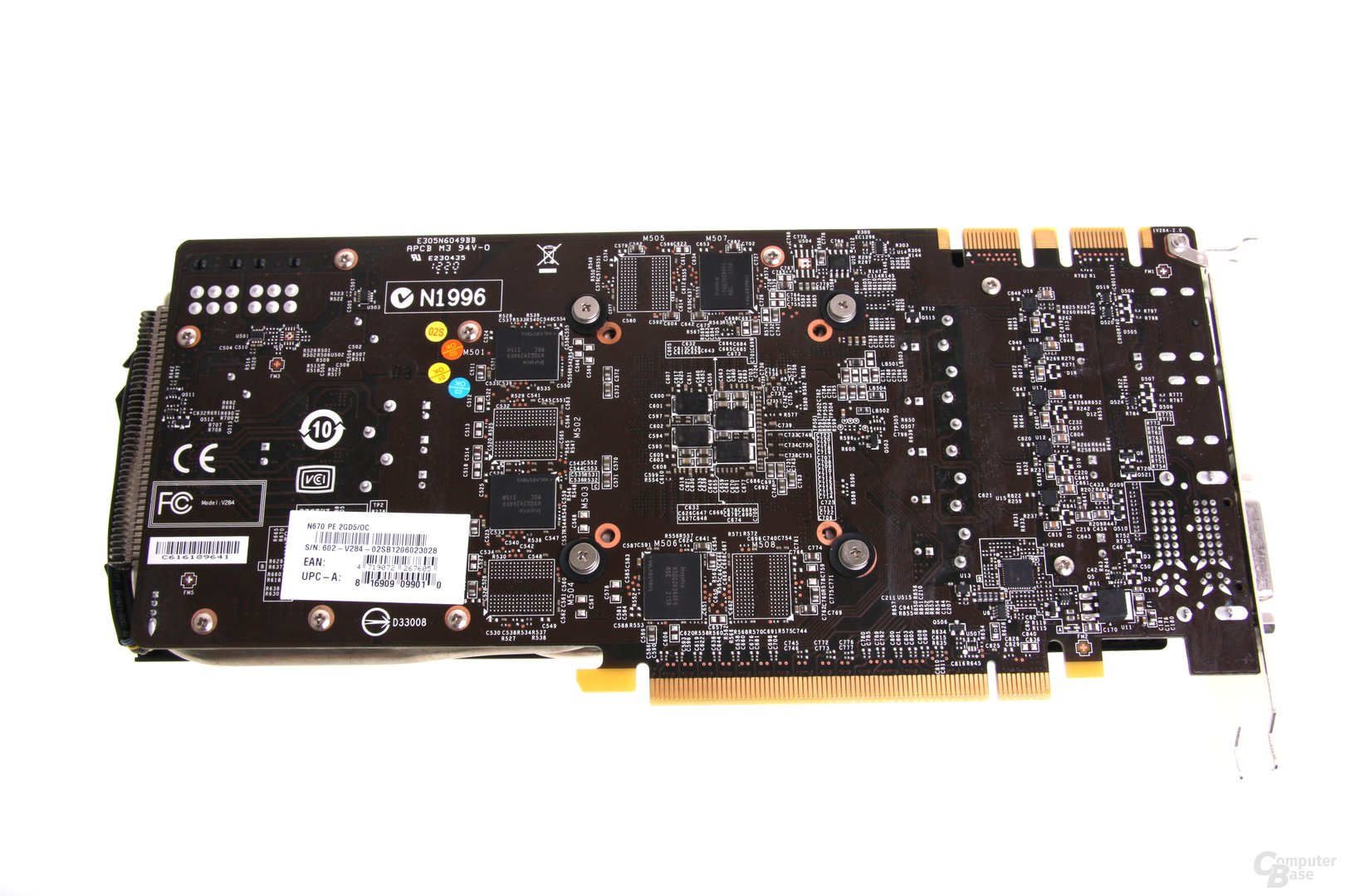 GeForce GTX 670 PE OC Rückseite
