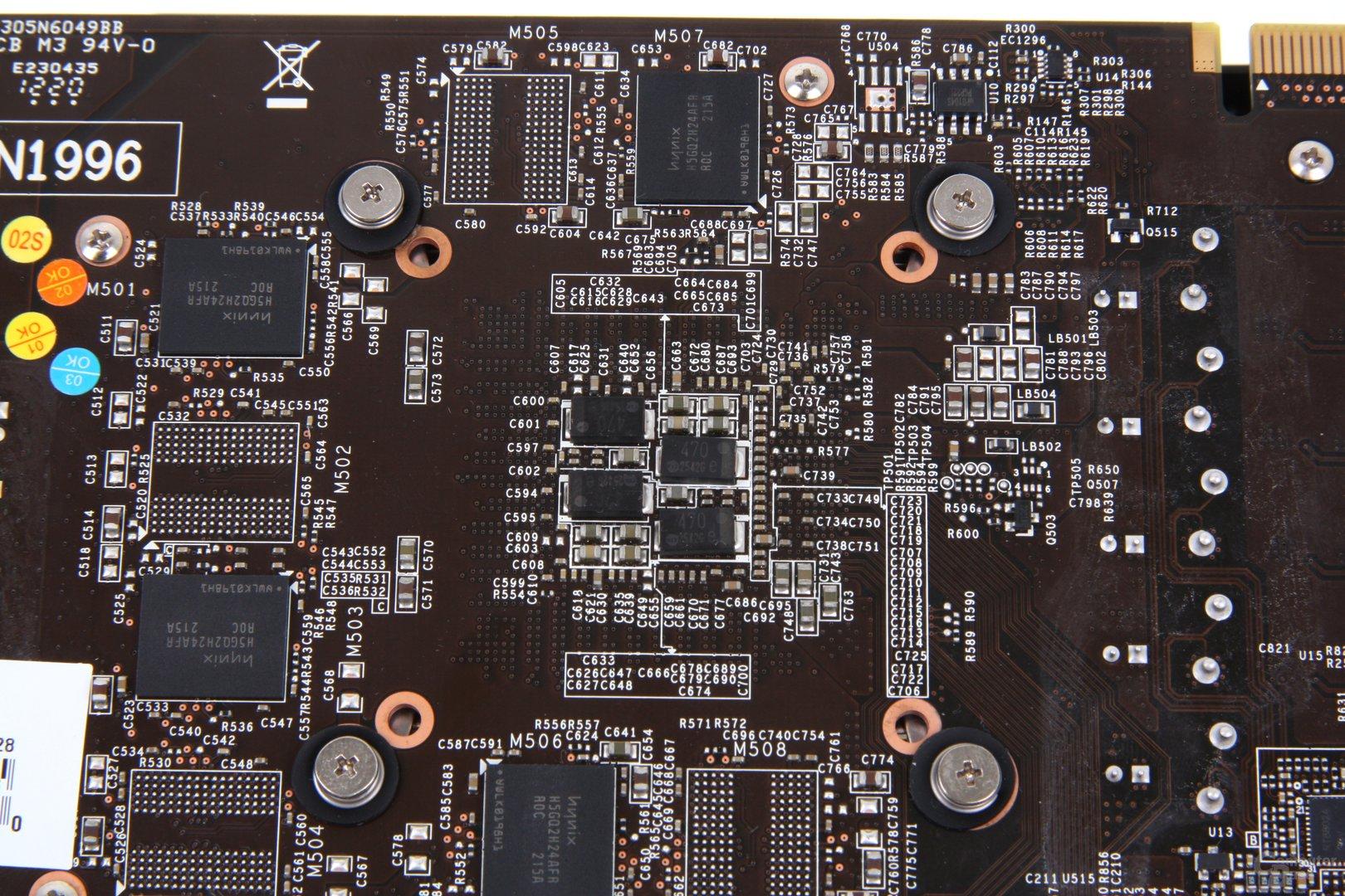 GeForce GTX 670 PE OC GPU-Rückseite
