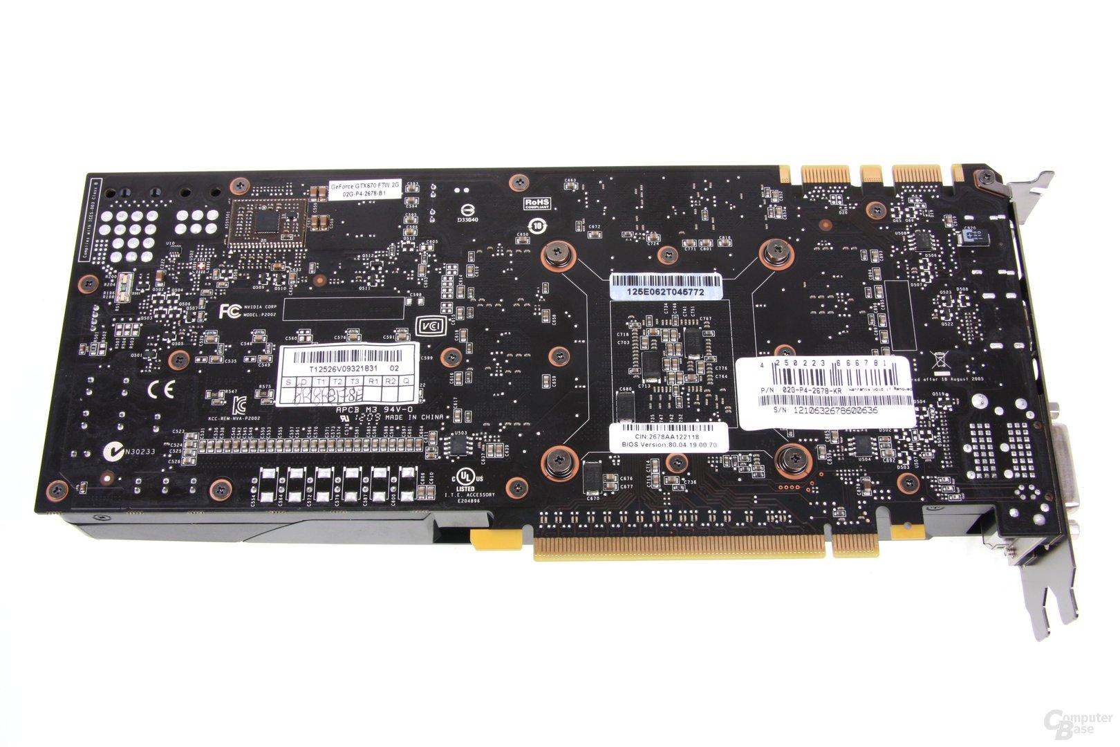 GeForce GTX 670 FTW Rückseite
