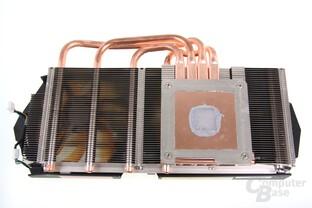 GeForce GTX 670 AMP! Kühlerrückseite