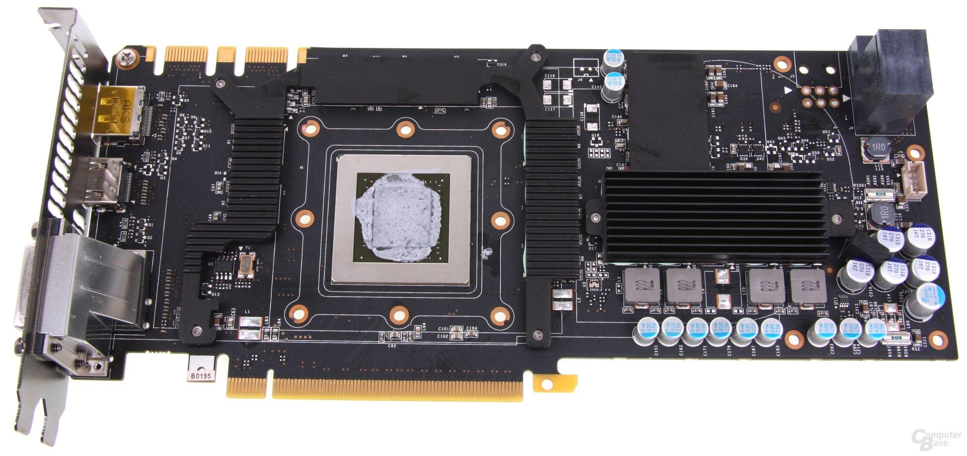 GeForce GTX 670 AMP! Kühlplatte