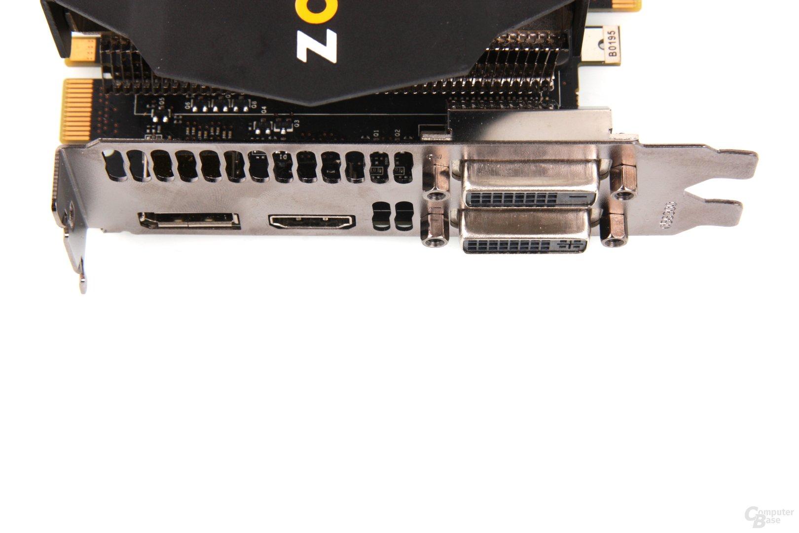 GeForce GTX 670 AMP! Anschlüsse