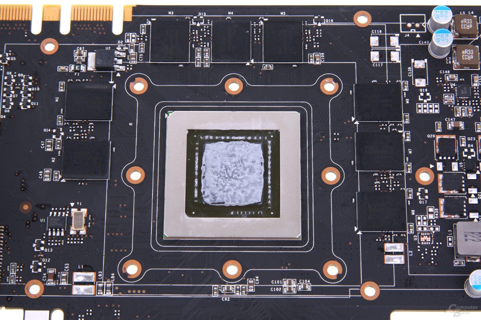 GeForce GTX 680 AMP! GPU und Speicher