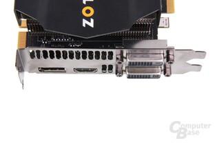 GeForce GTX 680 AMP! Anschlüsse