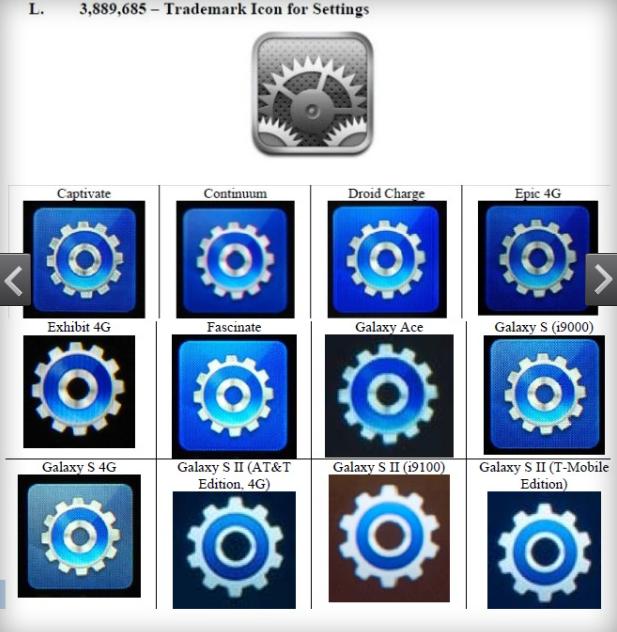 Apple-Patentstreit: Vergleich der Benutzeroberflächen