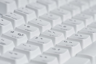Zylindrische Tastenkappen unterstützen die Fingerauflage