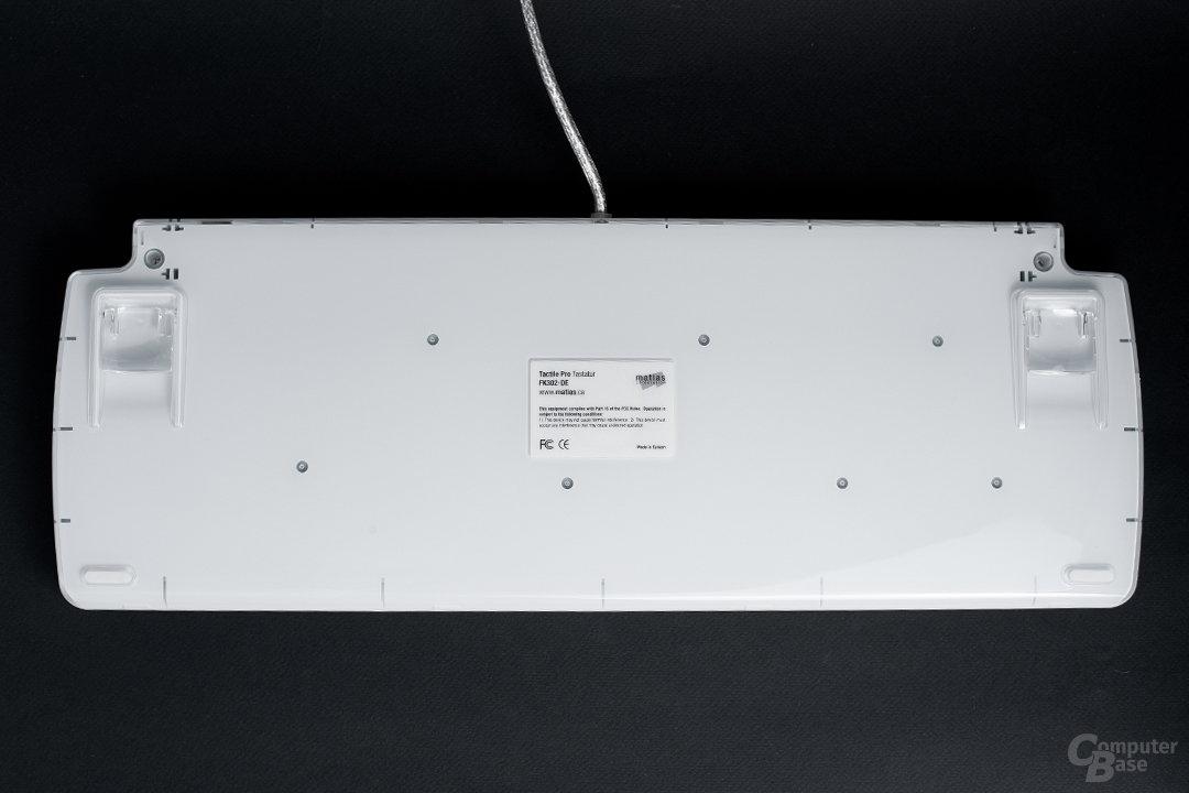 Weißes Kunststoffchassis mit transparenter Hülle