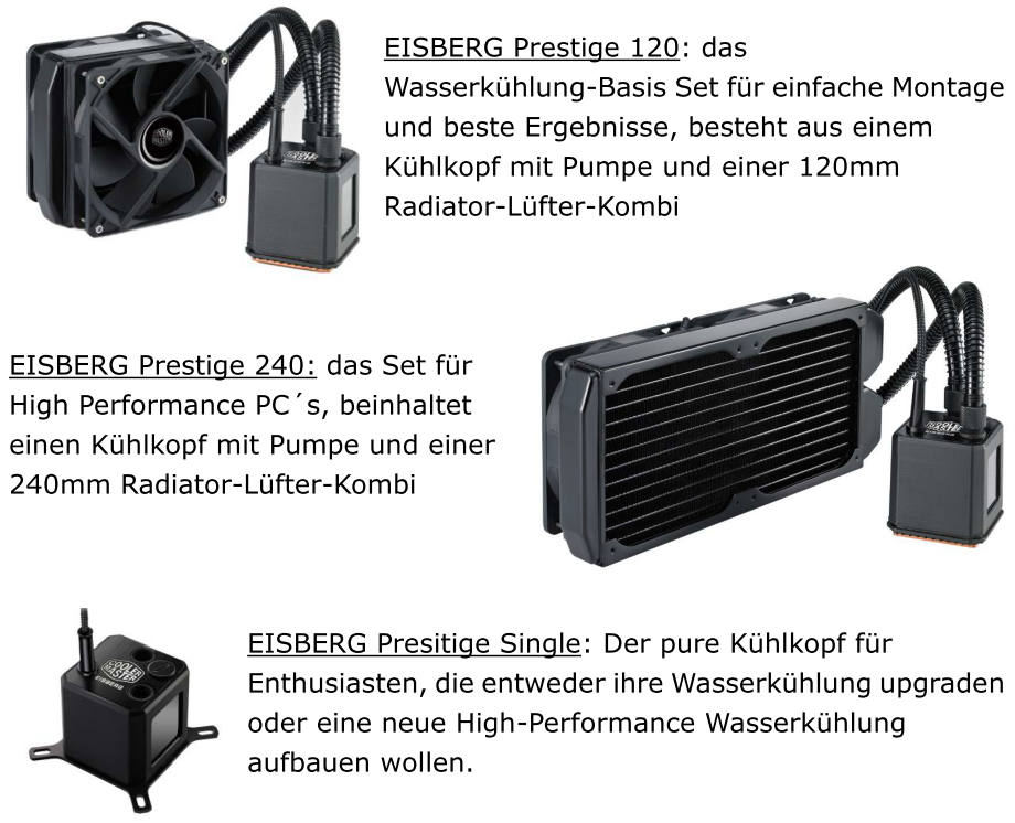 Cooler Masters neue Eisberg-Prestige-Serie