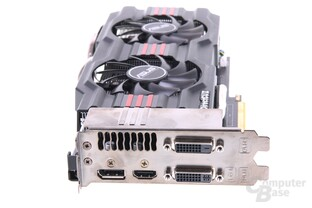 GeForce GTX 660 Ti DCII TOP Slotblech