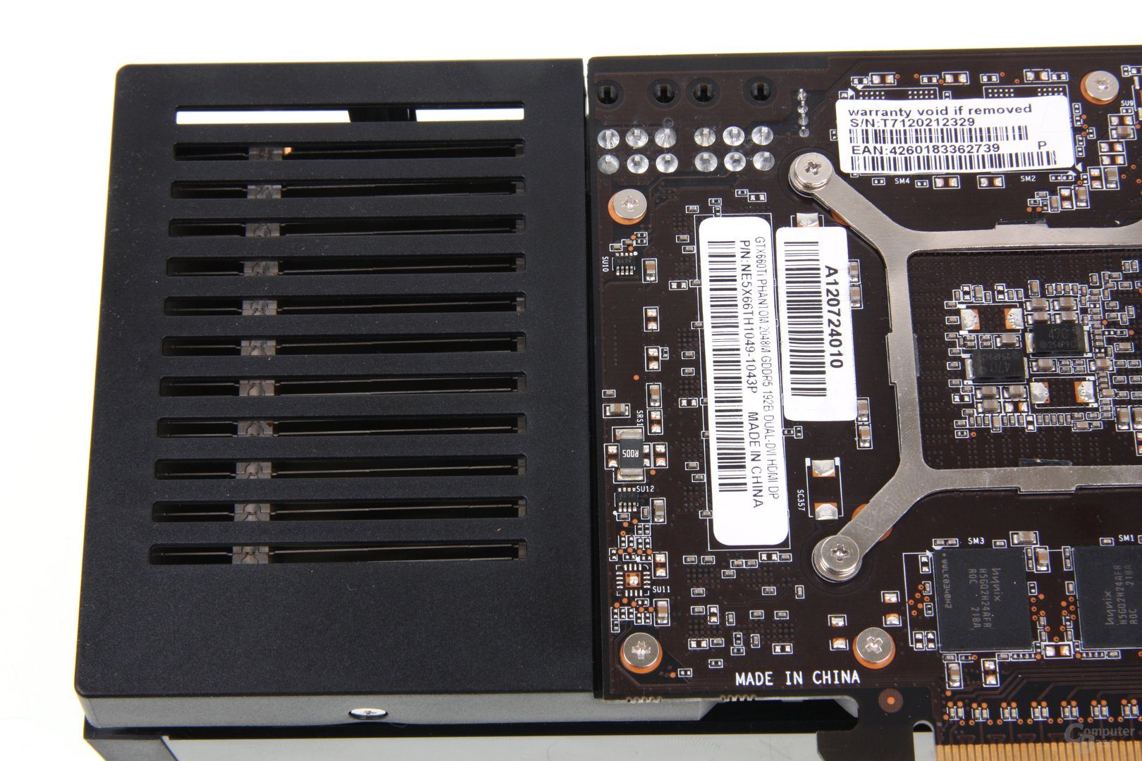 GeForce GTX 660 Phantom Kühler und PCB