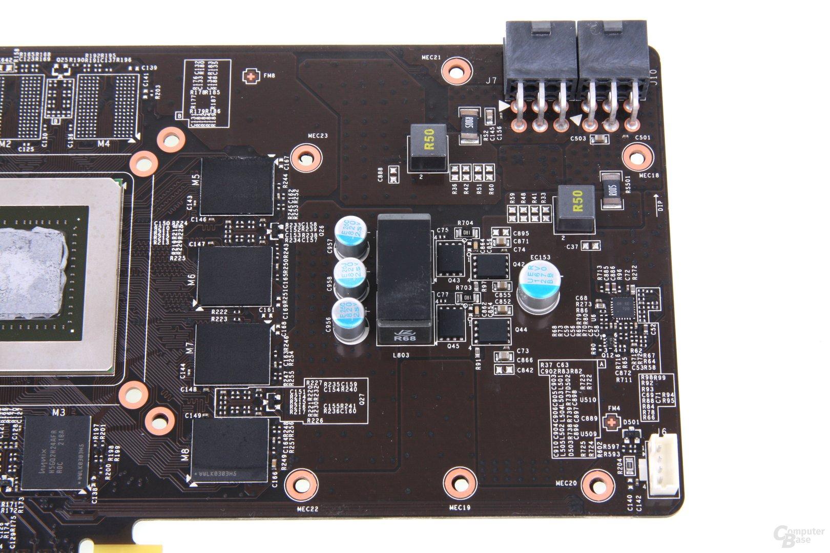 GeForce GTX 660 Ti PE OC Bauteile