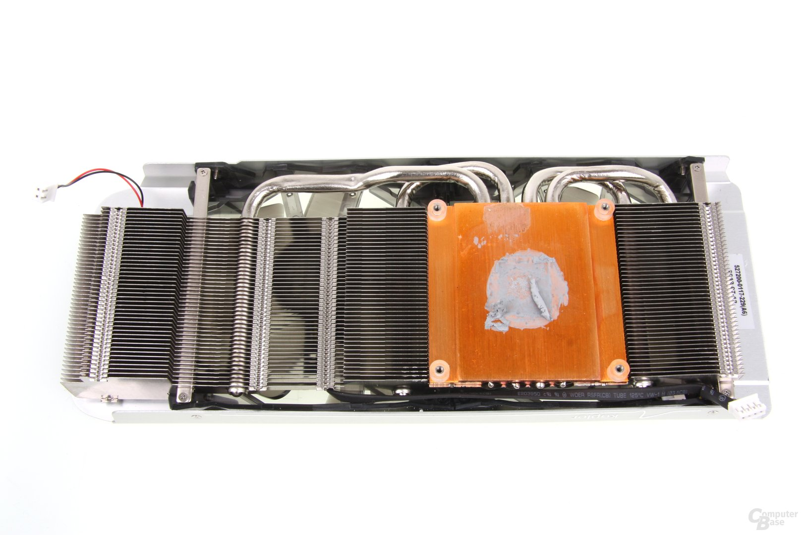 GeForce GTX 660 Ti OC EX Kühlerrückseite