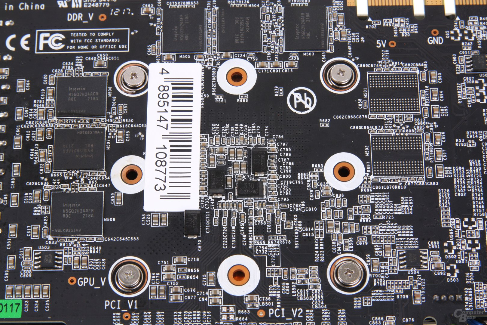 GeForce GTX 660 Ti OC EX GPU-Rückseite