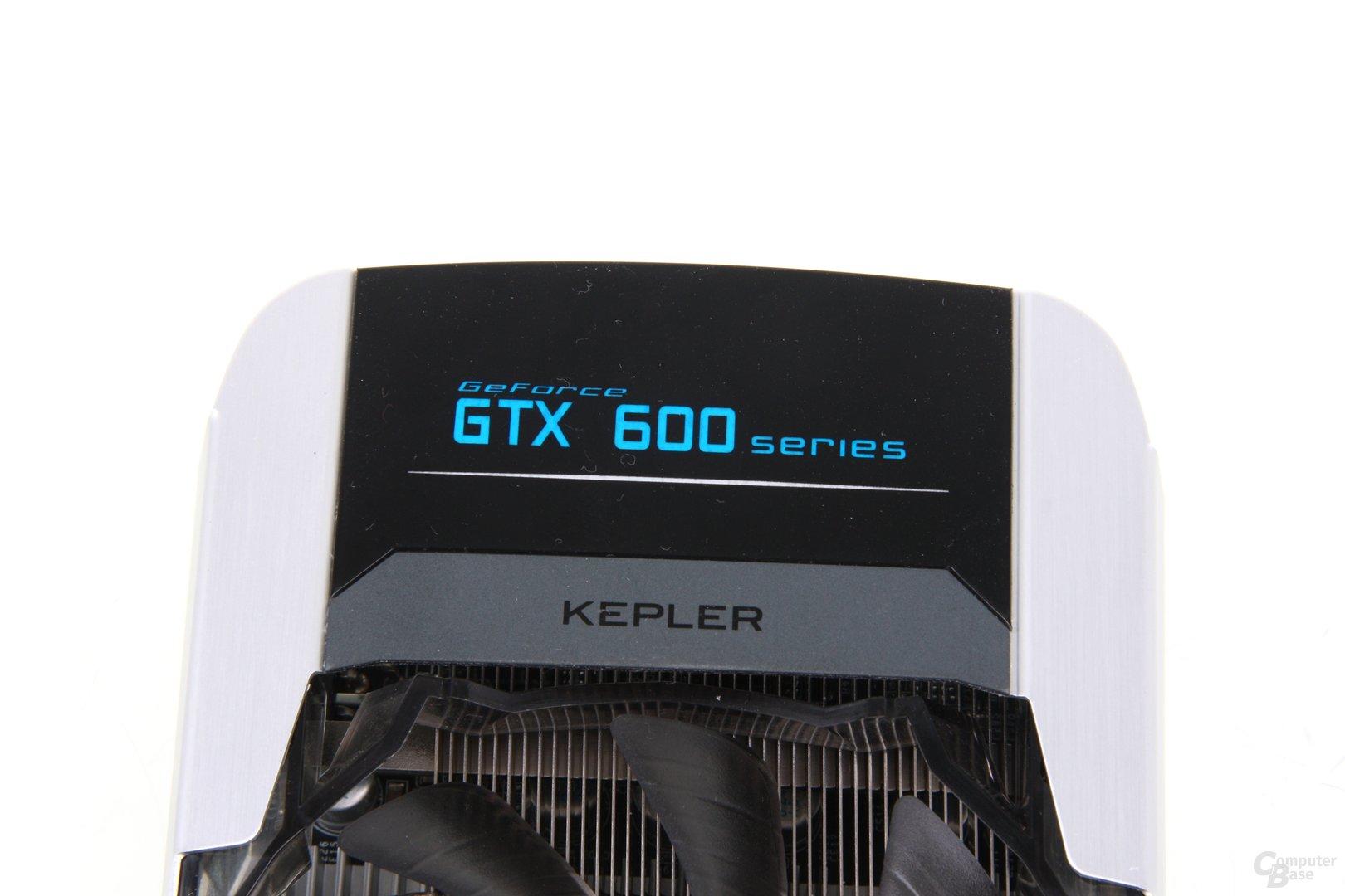 GeForce GTX 660 Ti OC EX Schriftzug