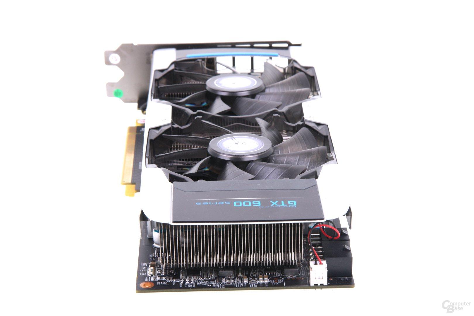 GeForce GTX 660 Ti OC EX von hinten