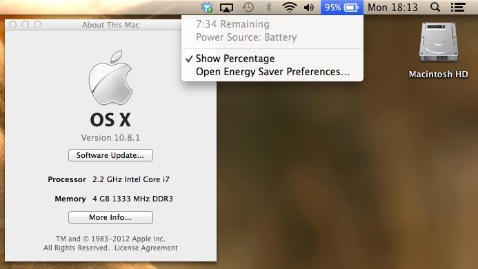 OS X 10.8.1 soll Laufzeitprobleme beheben