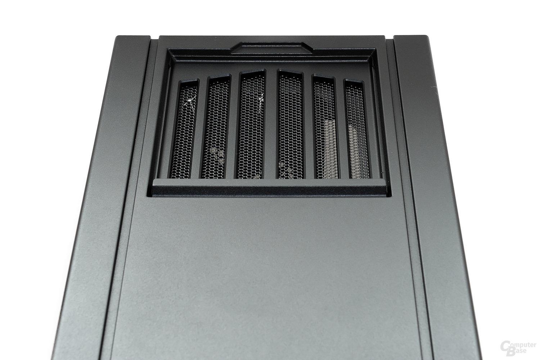 CoolerMaster Silencio 650 – Geöffnete Abdeckung für einen Lüfter