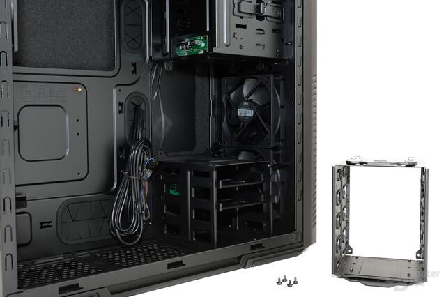 CoolerMaster Silencio 650 – Entfernbarer Festplattenkäfig