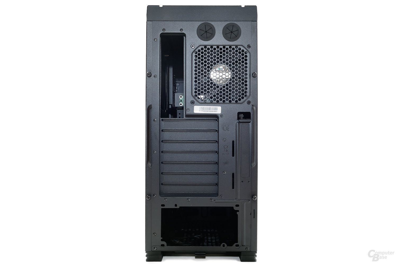 CoolerMaster Silencio 650 – Heckansicht