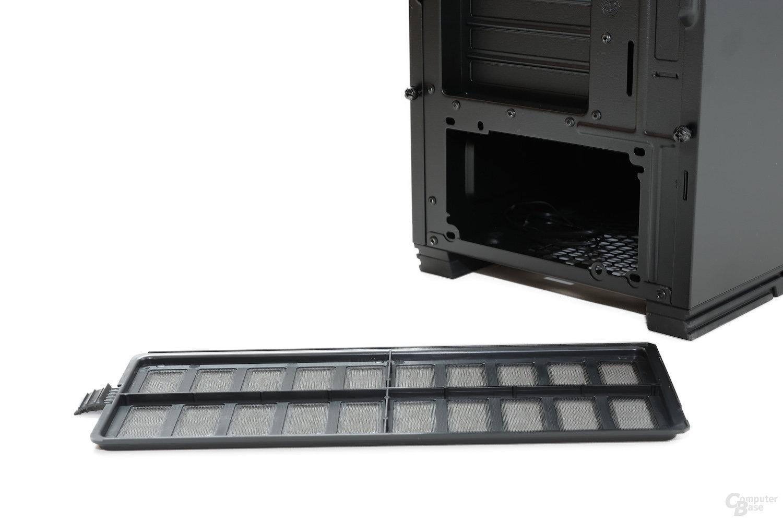 CoolerMaster Silencio 650 – Netzteil- und Lüfterstaubfilter