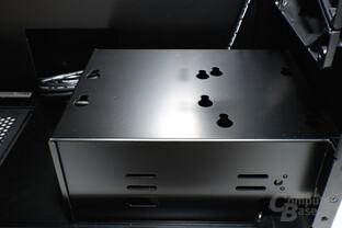 """Cubitek Magic Cube AIO - 5,25""""-Schacht und Festplattenhalterung"""