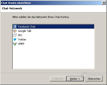 Chat-Funktionen in Mozilla Thunderbird 15