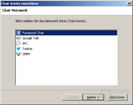 Chat-Funktionen in Mozilla Thunderbird 15